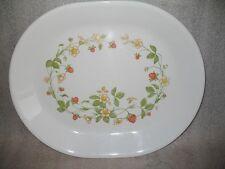 """Vtg Retired Corelle Strawberry Sundae Oval Serving Platter 12 1/4""""  Excellent"""