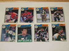 LOT OF 13 DIFFERENT AUTOGRAPHED 1983 O-PEE-CHEE OPC MINNESOTA NORTH STARS CARDS