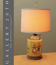 MID CENTURY DANISH JUG TABLE LAMP! EAMES VTG 50'S MODERN HANDPAINTED DENMARK JUG