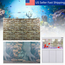 New listing Aquarium Background Double Sided Wall Tree Landscape Fish Tank Poster Decor