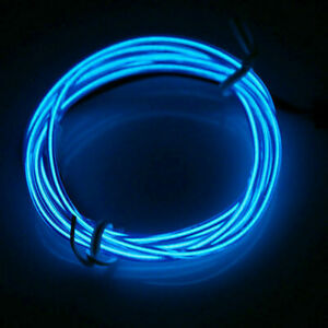 Neon LED Light Glow EL Wire String Strip Rope Tube Decor Party&USB Controller AC
