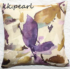 "John Lewis ""Alexa"" Cushion Cover & Abstract Leaf Fabric , Contemporary Style 18"""