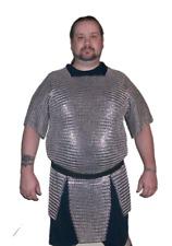 Einzigartige Kettenhemd Stahl 10 mm Rund mit Nieten Solid Ring Zink Halb Arm XL