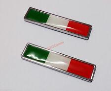 2pcs Alloy Italy Flag Car Auto Emblem Badge Trim for Fiat Maserati Lancia Benz