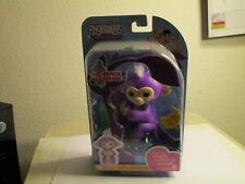 WowWee TOYS FINGERLINGS PURPLE BABY MONKEY WITH BONUS STAND