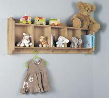 Amelie childrens bedroom furniture oak wall mounted hanging shelf