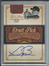 2012 12 Panini Prime Cuts Draft Pick Trevor Bauer ( /249 ) Autograph Auto # TB