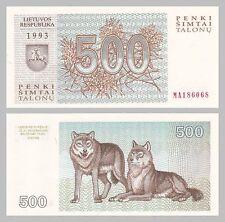 Litauen / Lithuania 500 Talonu 1993 p46 unz.