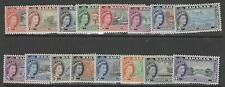 BAHAMAS SG201/16 1954 DEFINITIVE SET MTD MINT