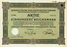 Süddeutsche Holzwirtschaftsbank München 1929 Allianz Hermes Berlin Merck Fink Co