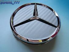 4x Mercedes Nabendeckel Nabenkappen SILBER CARBON AMG Felgendeckel Nabe 75mm