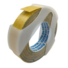 Rotex Embossing Tape Glossy Yellow 38 X 12 Ft 1302 02 New Label Labeling