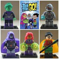 Teen Titans Robin Beast Boy Cyborg Raven Action Mini Figures Toys use with lego