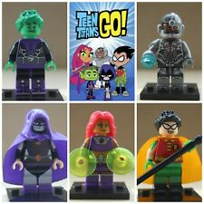 Teen Titans Robin Beast Boy Cyborg Raven Action Mini Figures Toys use with lego