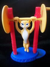 Vintage Plastic McDonalds Toy Cheetah on Trapeze Collectible Arobatic Cat
