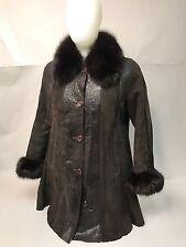 Women's Genuine Shearling Leather Coat Size S Timelessly elegant $1,800