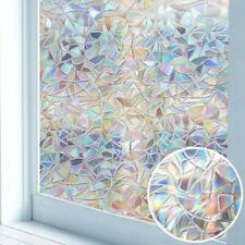 3D Privacy Window Stickers Glass Film Rainbow Colorful Bathroom DIY Decor Door