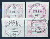 Suisse 1979 Mi. 3 Oblitéré 100% 0005, 0010, 0040, différentes couleurs.