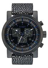 Nixon Magnacon Leather II Watch (Black Stingray)