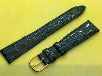 JB Champion 11/16 18mm Reg Black Crocodile Calf Genuine Leather Watch Bands #547