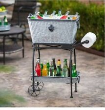 Beverage Tub with Rolling Cart and Tray