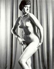 Original Vintage Artistic 1940s-60s Nude RP- Endowed Woman- Posed Full Frontal