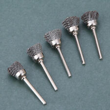 10 Pcs Stainless Steel Wire Polishing Bowl Brush Drum Set For Rotary Tool