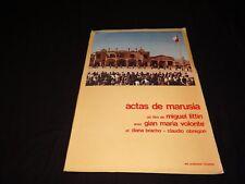 ACTAS DE MARUSIA gian maria volonte  dossier presse cinema western  1975