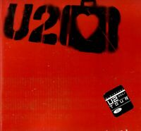 U2 2001 ELEVATION WORLD TOUR CONCERT PROGRAM BOOK / BONO / STICKERS / EX 2 NMT