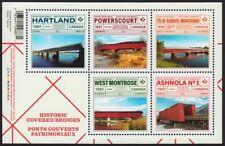 New! = BRIDGES = Souvenir Sheet of 5 stamps Canada 2019 MNH VF