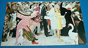 NORMAN ROCKWELL 'SATURDAY PEOPLE' CENTERFOLD PRINT PAGE, RINGO, JONATHAN WINTERS