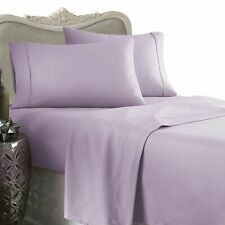1200 Thread Count 100% Egyptian Cotton Bed Sheet Set 1200 TC FULL Lavender Solid