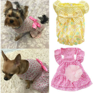 Dog Party Dress Small Pet Skirt Tutu for Cat Shih tzu Poodle Yorkie Chihuahua