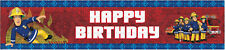 FIREMAN SAM BIRTHDAY BANNER FOR BIRTHDAY PARTY FIREMAN SAM BIRTHDAY FOIL BANNER
