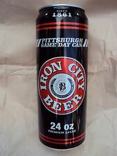 PITTSBURGH BREWING CO. IRON CITY 24 oz. PITTSBURGH GAME DAY beer can / IRON CITY