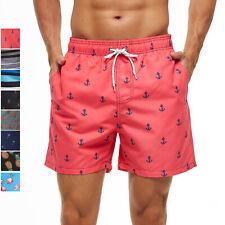 Мужские плавки купальник быстрой сушки сетчатая подкладка с цветочным принтом, летнее