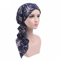 Muslim Women Stretch Cancer Chemo Cap Hair Loss Head Scarf Hijab Wrap Underscarf