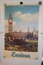 1950's Vintage Travel Poster London (From Travel Agency)