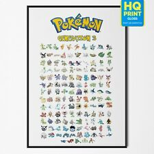 Pokemon Gen 3 Hoenn All 252-386 Ditto Face Pokemon PosterA4 A3 A2 A1