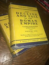 DECLINE AND FALL OF THE ROMAN EMPIRE Edward Gibbon Monodern Library HC 2 Vols