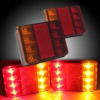 2pcs 12V 8 LED Feux Arrière Lampe Fonction Stop Indicateur Remorque Camion  *
