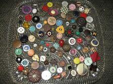 Vintage Lot 101 Fancy Sewing Buttons Bakelite Glass Metal Mop Wood Celluloid