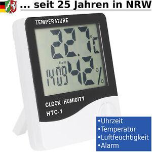 mini Wetterstation Thermometer Hygrometer Zeit Luftfeuchtigkeit Temperaturmesser