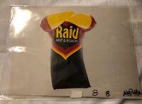 Raid Bug Spray Production Serigraph Cel Advertising RAID Ant & Roach Full Color