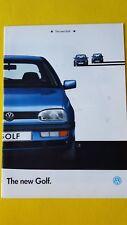 Volkswagen Golf GL CL 1.8 1.4 1.9 TDI car sales brochure January 1992 MINT VW