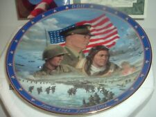 D-Day World War II: A Remembrance Plate w Box and COA 1994