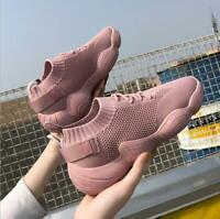 New Women's Ulzzang Running Jogging Shoes knitting Walking Sneaker Sports Shoes