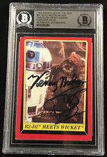 KENNY BAKER R2-D2 & WARWICK DAVIS TOPPS CARD STAR WARS SIGNED AUTO BAS BECKETT