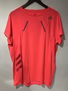 Adidas Running Heat RDY Neon Orange  T-Shirt Heat Dry Men's Large Good Condition