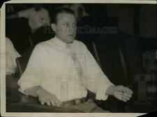 1937 Press Photo Dr. Frank Furch Jr. on Trial for Shooting Mrs. Norma Schmidt